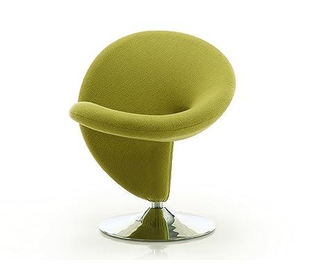 International Design USA Ziggy Swivel Leisure Chair, Green