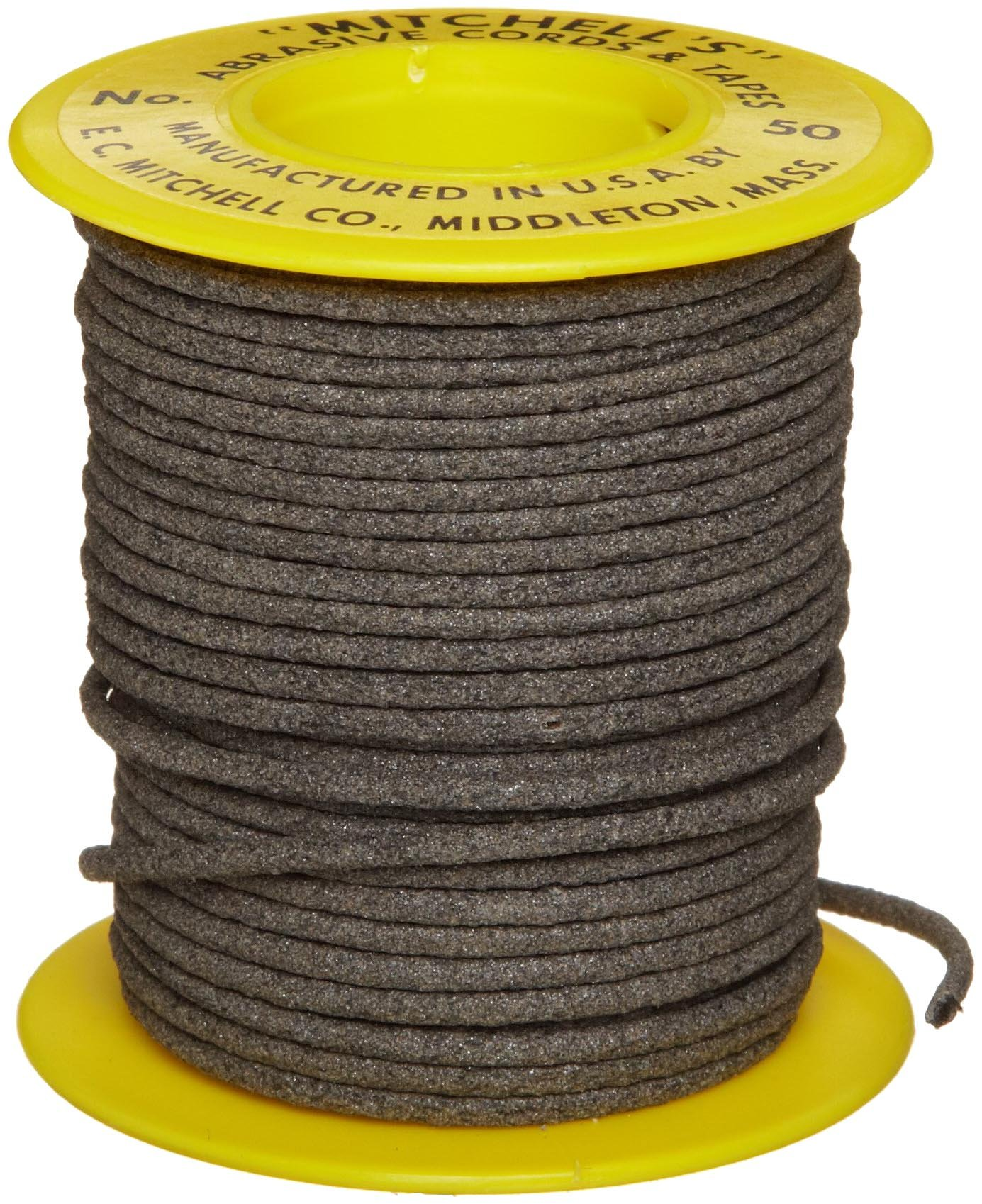 Mitchell Abrasives 50 Round Abrasive Cord, Aluminum Oxide 180 Grit .070'' Diameter x 50 Feet by Mitchell Abrasives