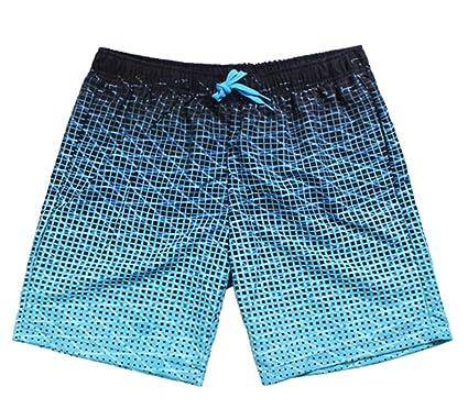 e597dd5ea1 SHEKINI Men's Swim Trunks Short Quick Dry Slim Lightweight Wihtout Mesh  Lining (Deep Blue,