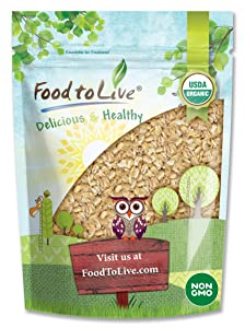 Organic Rolled KAMUTKhorasan Wheat Flakes, 1.5 Pounds - Non-GMO, Made from Whole Wheat Berries, Kosher, Bulk, Great for Cereal, Granola, Muffins and Milling into Flour for Baking, Product of the USA.