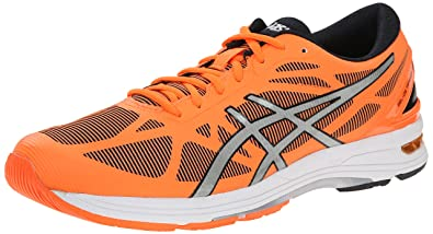 ASICS Men's Gel DS Trainer 20 Running Shoe, Flash Orange/Silver/Black,