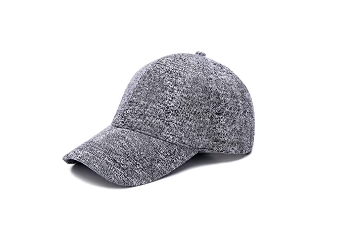 36f4722c28d JOOWEN Unisex Knitted Textured Baseball Cap Soft Adjustable Solid Hat (Grey)