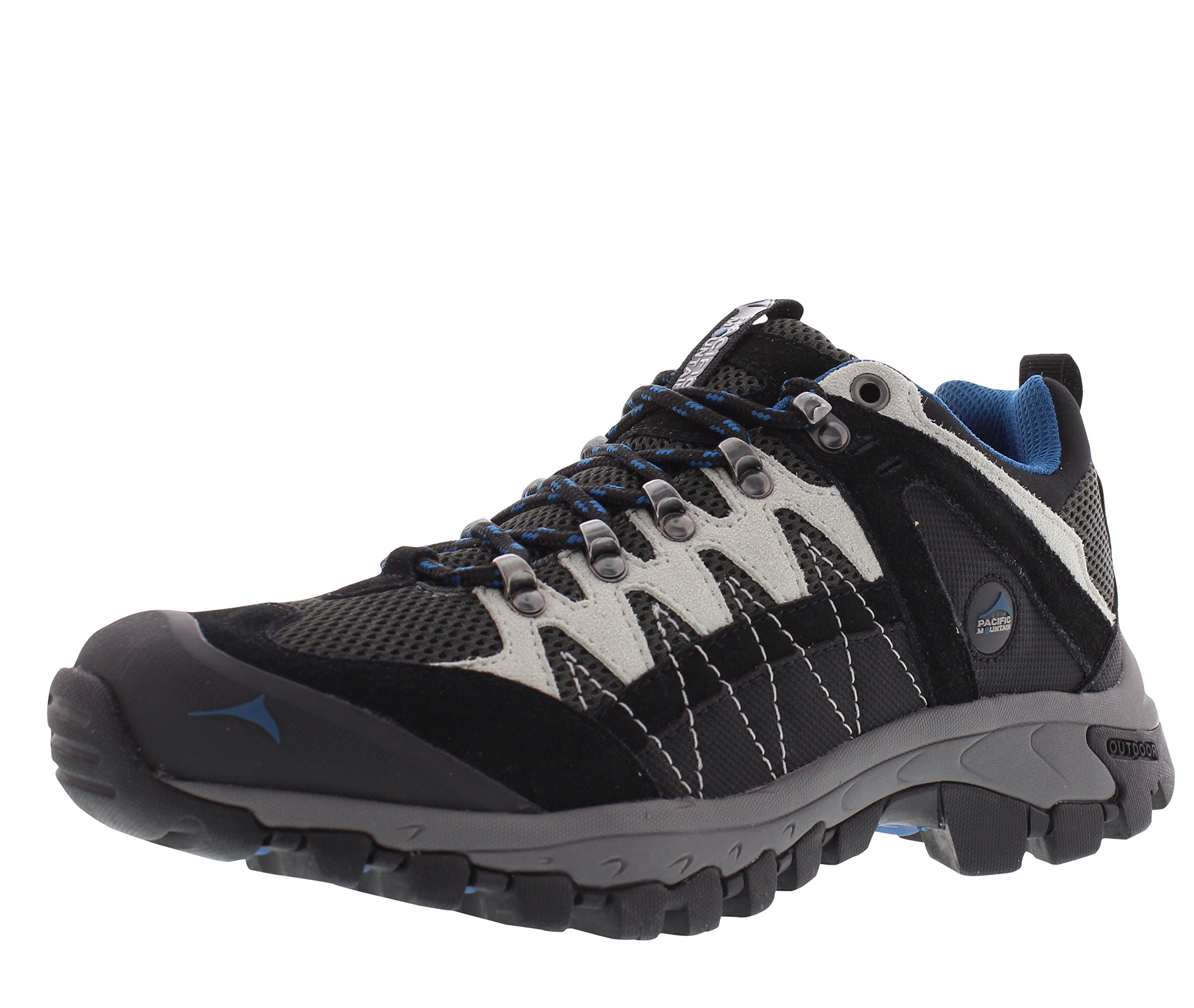 Pacific Mountain Crater Men's Hiking Backpacking Low-Cut Grey/Black/Blue Boots Size 13
