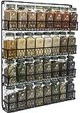 Sorbus SPC-RACK4 4 Tier Wall Mounted Spice Rack Storage Organizer