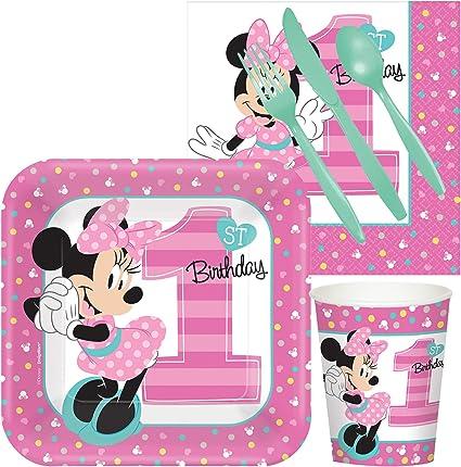 Amazon.com: Disney Minnie Mouse 1er Fiesta de cumpleaños ...