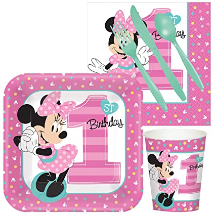 Disney Minnie Mouse 1st Birthday Party Supplies Snack Pack