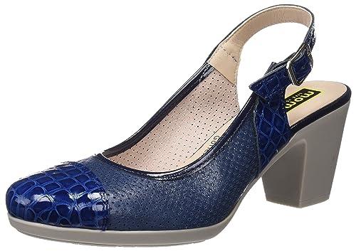MOMEM Glace Sandali con Cinturino alla Caviglia Donna Blu Navy 002 40
