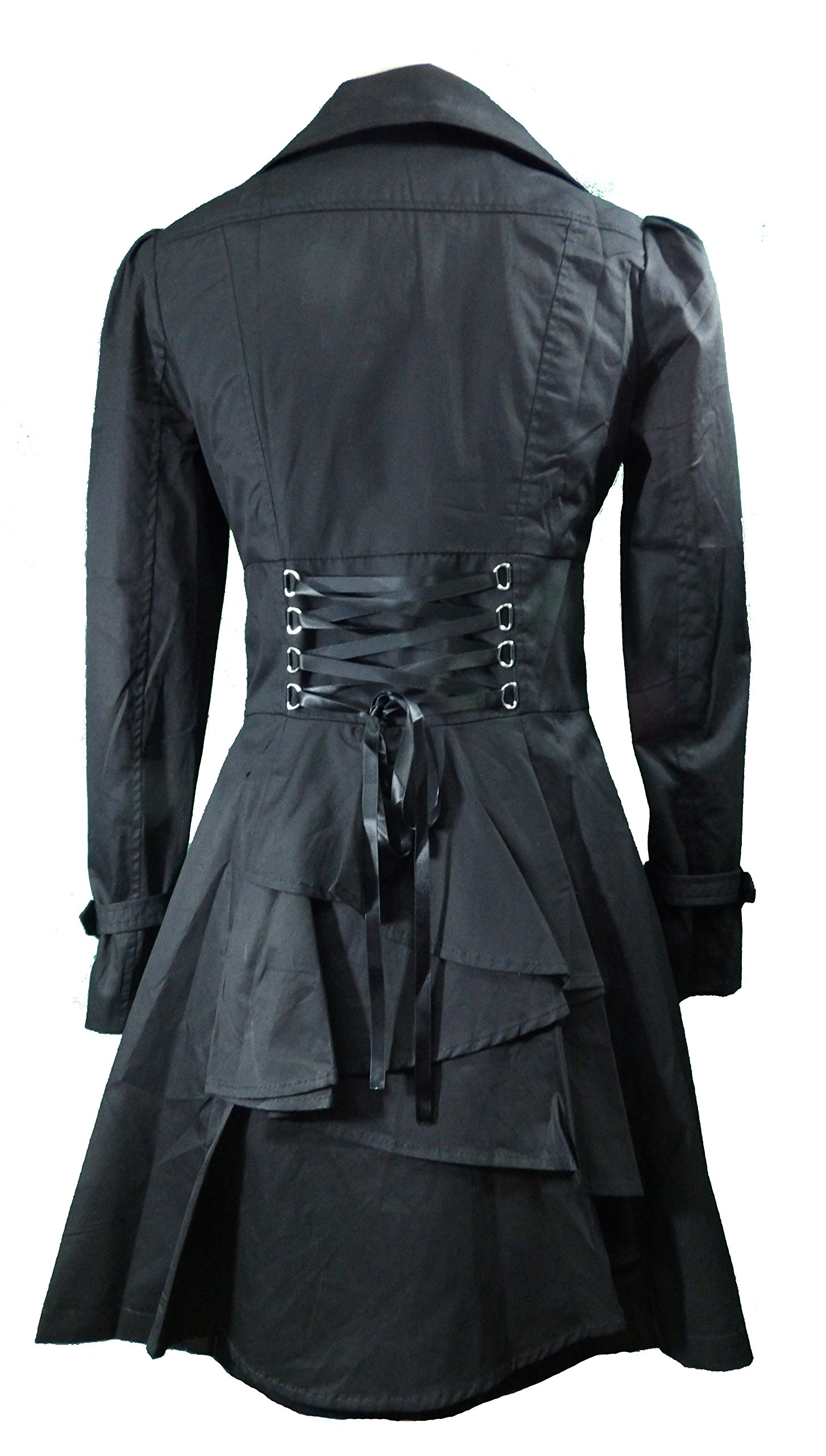-Rainy Night in Paris- Black Victorian Gothic Corset Vintage Style Jacket (Medium)