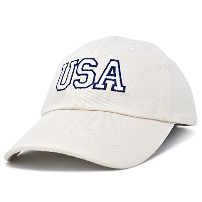 d043bee81ed8f DALIX USA Baseball Cap Flag Hat Team US Navy America Beige at Amazon ...
