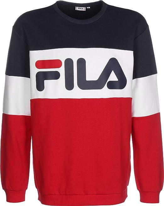 Felpa fila straight blocked sweater 4044185837446