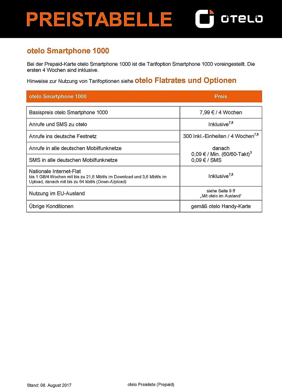 otelo - Tarjeta SIM prepago para Smartphone Incluye Registro de ...