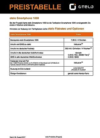 otelo - Tarjeta SIM prepago para Smartphone Incluye Registro de Vodafone D2 de O.Tel.o.: Amazon.es: Electrónica