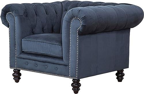 Abbyson Living Contemporary Velvet Armchair