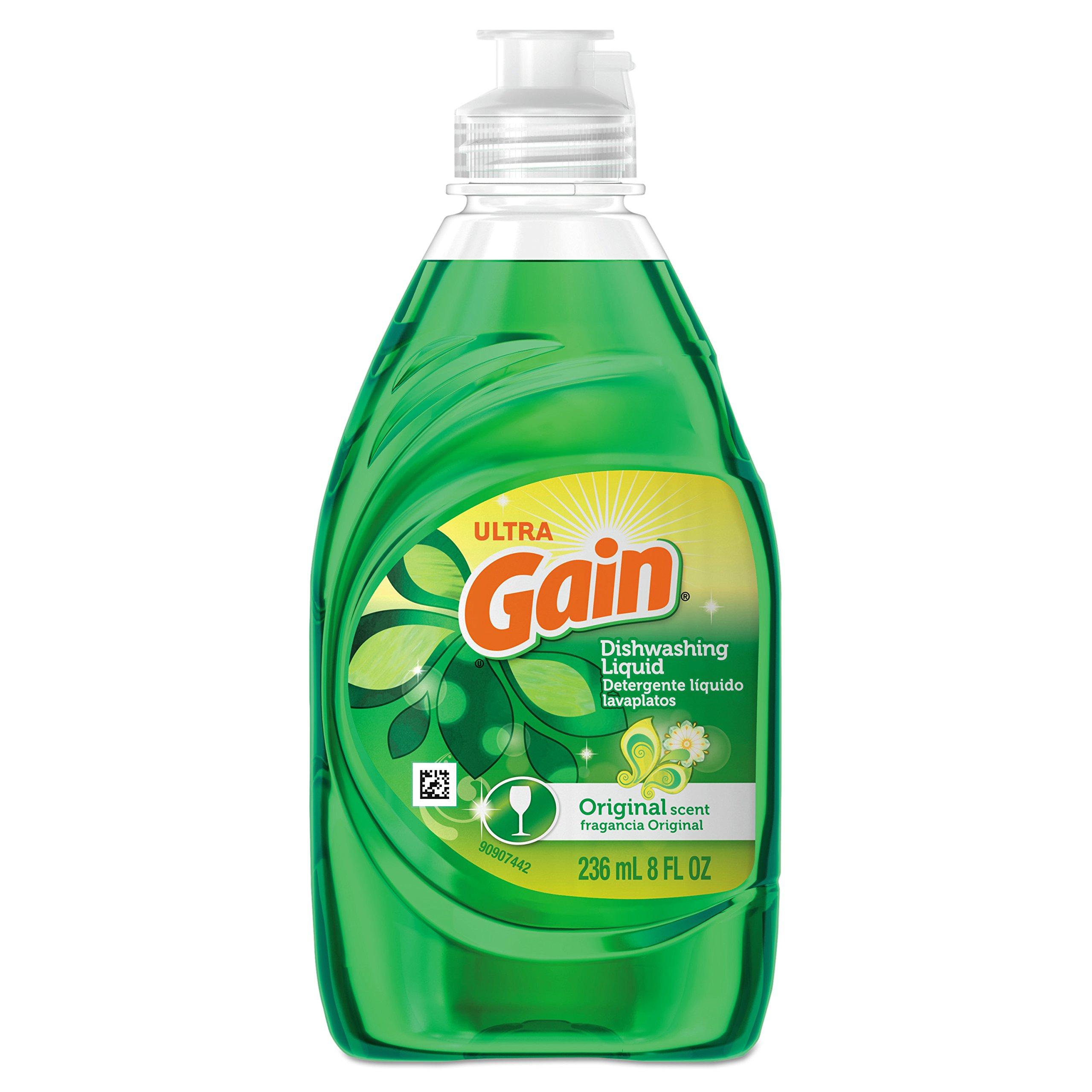 Gain 97614 Dishwashing Liquid, Gain Original, 8 oz. Bottle (Case of 18) by Gain