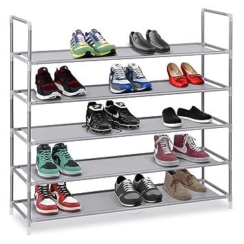 caf8de0c586 Étagères de rangement empilables à étagères pour chaussures Halter à 5  niveaux - Le cadre en