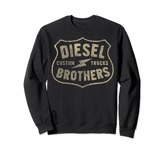 83ebefd9d Unisex Diesel Brothers Custom Trucks Vintage Sign Sweatshirt 2XL Black