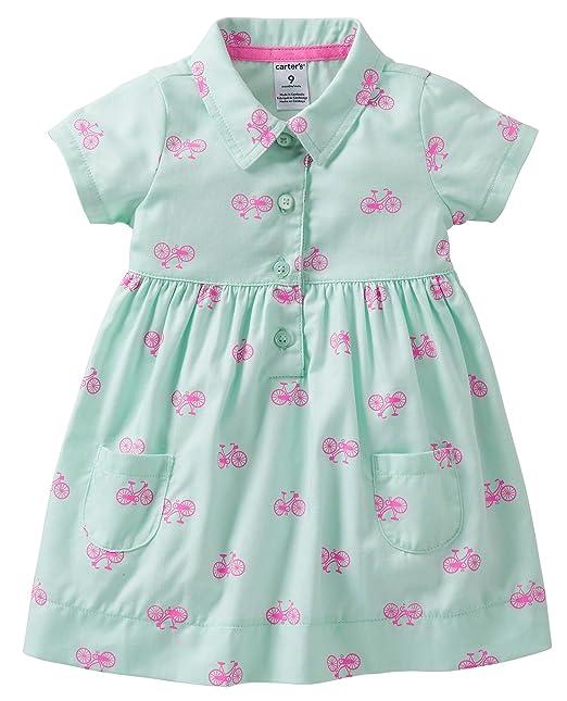 a2d175a6 Carter's Girls Spring Into Pink Print Dress & Diaper Cover (6 Months)