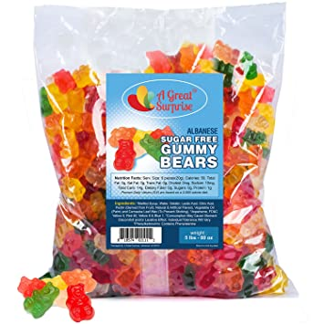 amazon com gummy bears bulk sugar free gummi bears 5 lb sugar
