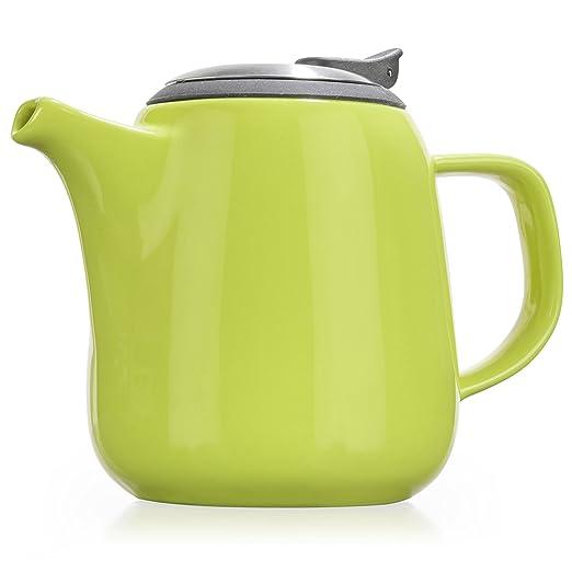 1 opinioni per Tealyra- Daze Ceramic Teapot in Lime- 24-ounce (2-3 cups)- Teiera in Ceramica