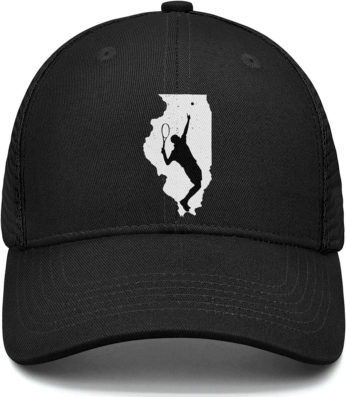 White Chicago Illinois United State Sports Cap Adjustable Unisex Mesh Cap Duck Tongue Caps Cool Caps