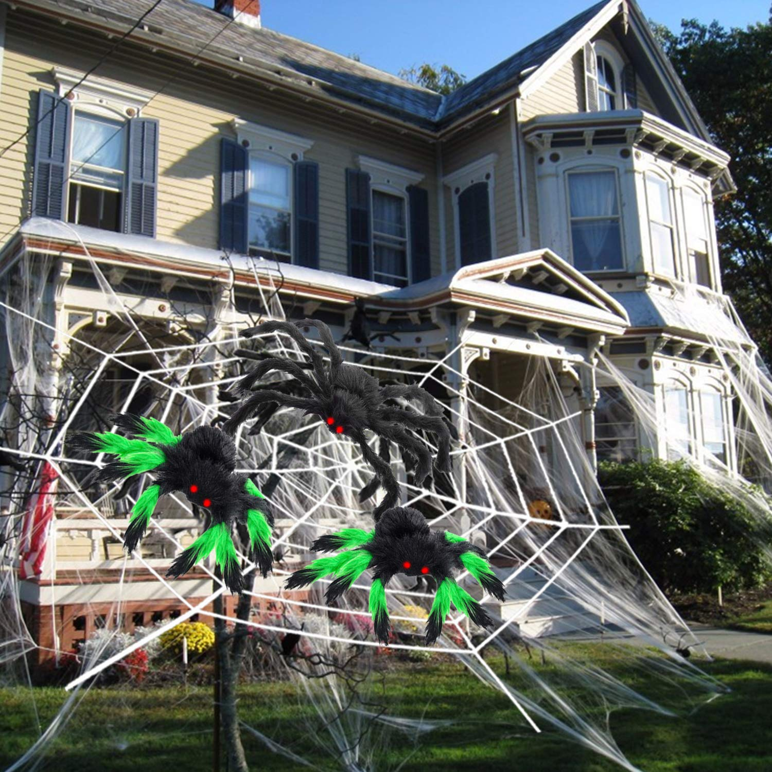 Halloween Decorations Outdoor 1000sqft Halloween Spider