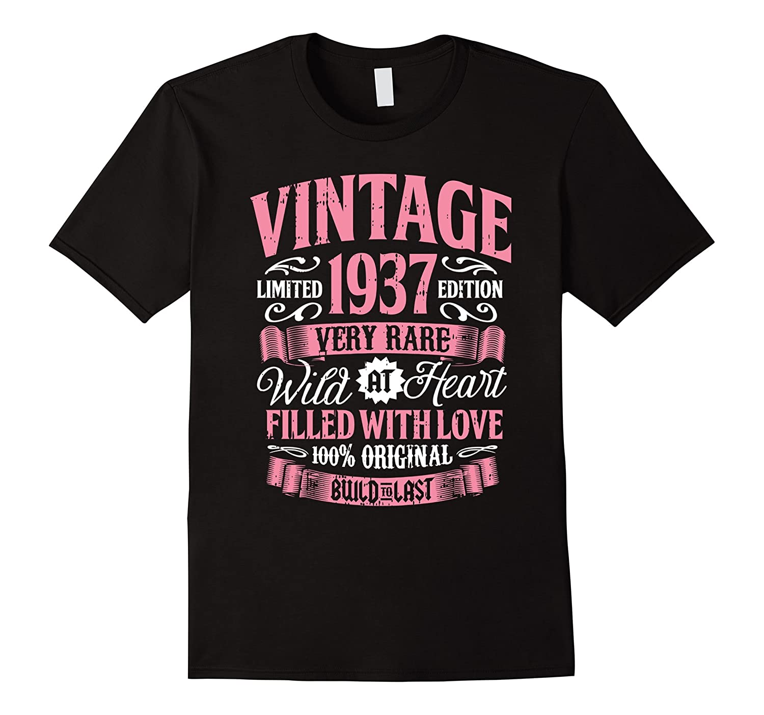 Vintage 1937 80th Birthday Gift 80 Years Old Bday Shirt ANZ