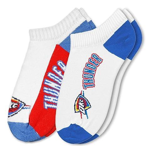 e2b2431e5030e6 Bare Feet Calze da uomo no-show NBA (2-pack), Uomo, Oklahoma City ...