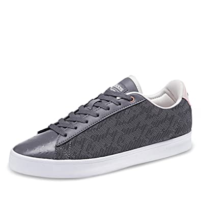 adidas neo Women s Cf Daily Qt Cl W Grefou Grefou Utiblk Leather Sneakers -  4 UK India (36.67 EU)  Buy Online at Low Prices in India - Amazon.in b91e0e422