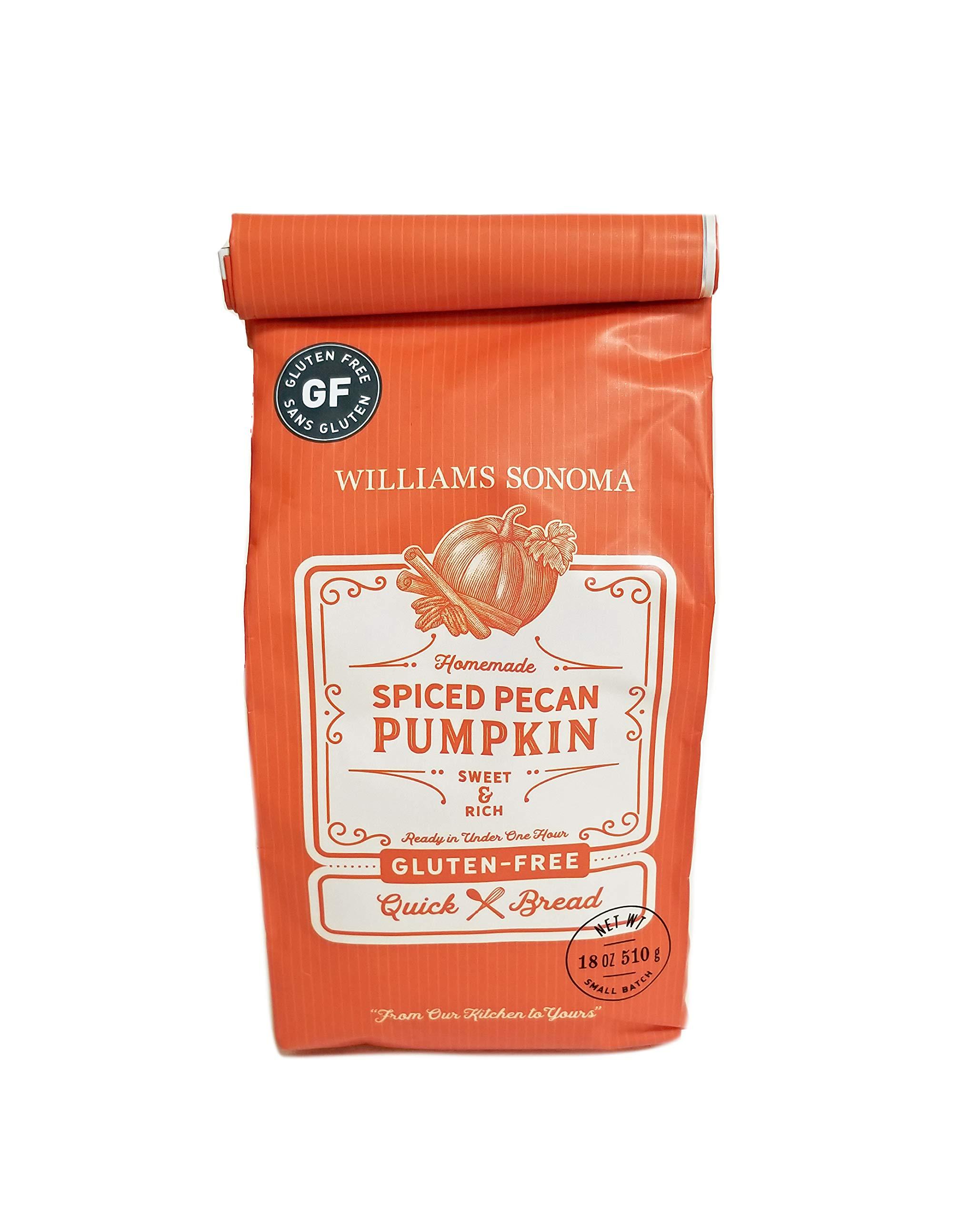 Williams Sonoma (Gluten-Free) Spiced Pecan Pumpkin Quick Bread Mix - 18 oz (ONE COUNT) by FCV