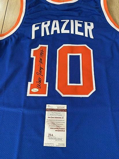 online store 9488f 92cd7 Walt Frazier Autographed Signed Memorabilia Jersey JSA Coa ...
