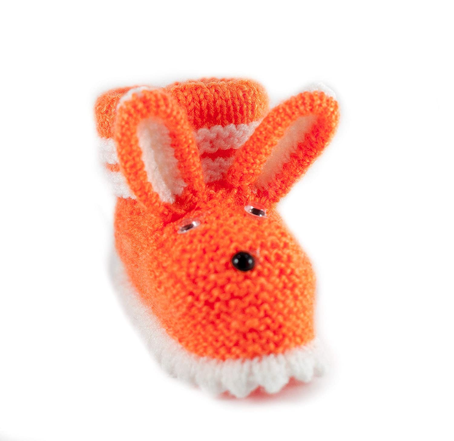Knitted Rabbit Boots for Baby