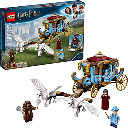 Lego Harry Potter And The Goblet Of Fire Beauxbatons Carriage Arrival At Hogwarts 75958 Building Kit 430 Pieces Toys Games