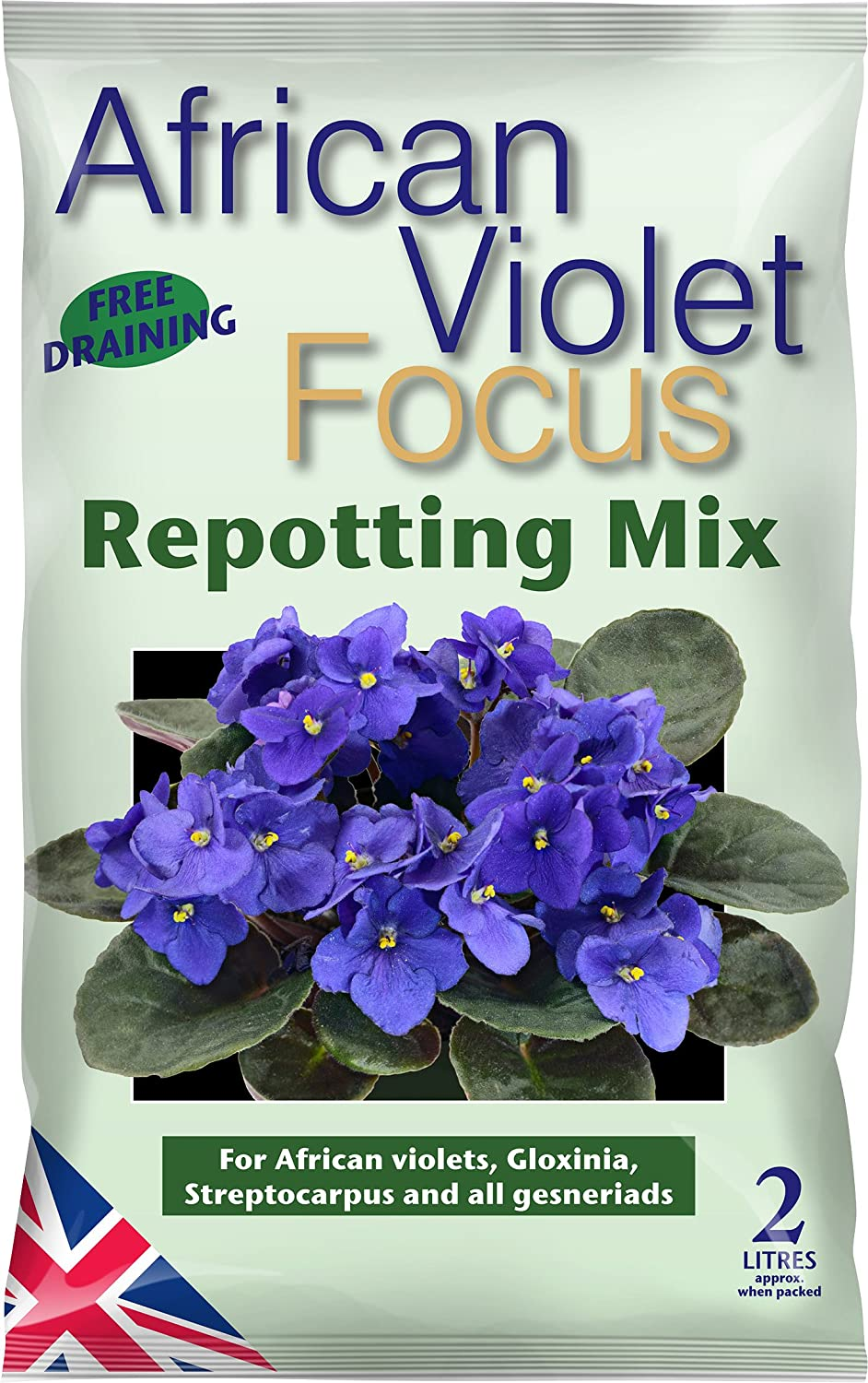Growth Technology Ltd African Violet Focus Repotting Mix 2 Litre