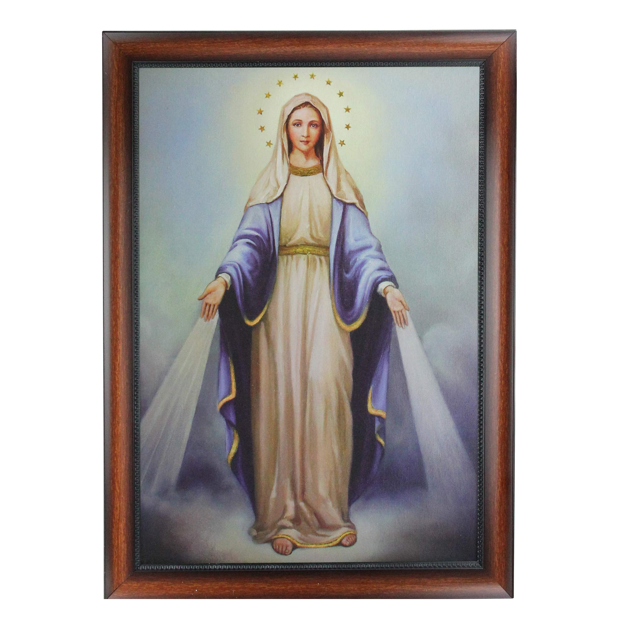 Roman 28'' Decorative Framed Our Lady of Grace Religious Cultural Picture by Roman
