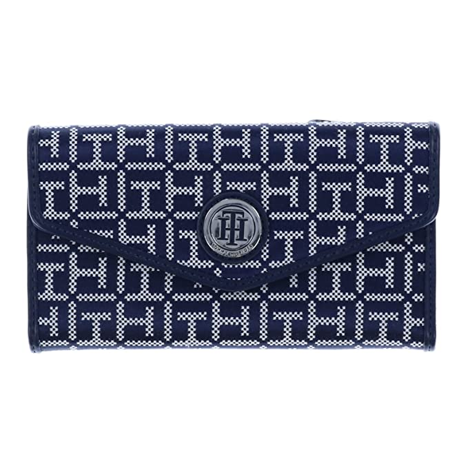 7cab2269d2e Tommy Hilfiger Womens Checkbook Wallet in Navy & White: Amazon.ca: Clothing  & Accessories