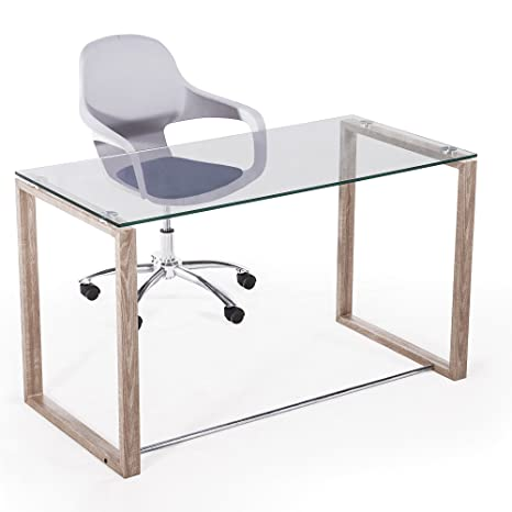 Adec - Mesa de Estudio Benetto XL, Mesa despacho de Cristal ...