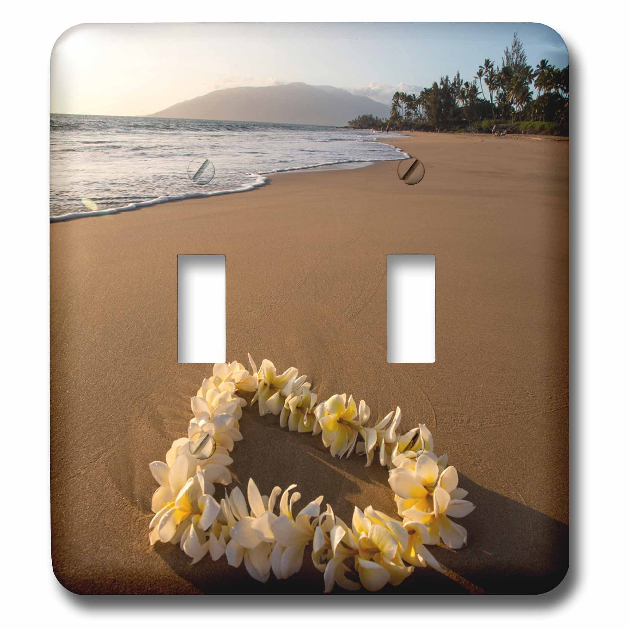 3dRose LSP_259255_2 USA, Hawaii, Maui, Lie on Kihei Beach with Reflections in Sand Toggle Switch, Mixed