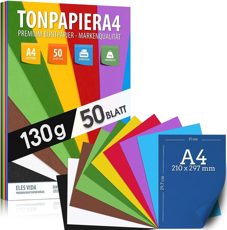 50 hojas de papel de construcci/ón Papel de dibujo PROFI DIN A4-130 g//m/² negro azabache artesan/ías Accesorios para cuadros de ventana hojas escuela papel de impresora de papel s/ólido Hobby
