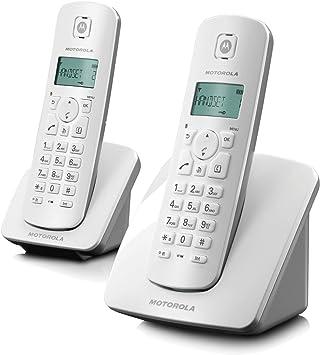 Motorola Cordless C402E Grey - Teléfono (DECT, Gris, Color Blanco, LCD, AAA, Escritorio, Monochrome): Amazon.es: Electrónica