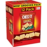 Cheez-It Grooves Crispy Snack Crackers, Sharp White Cheddar, 12 Ounce
