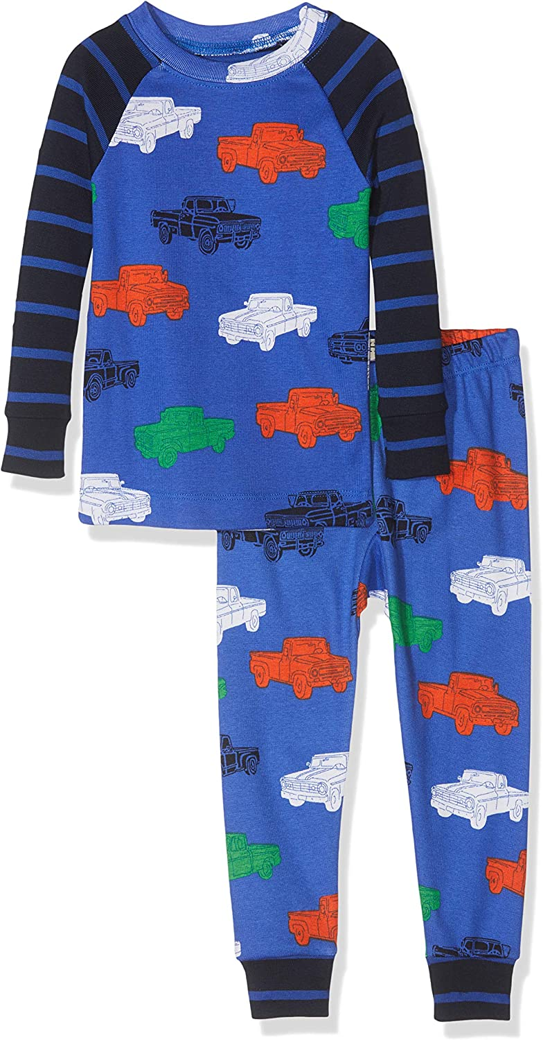Hatley Kids Boys Farm Tractors Organic Cotton Raglan Pajama Set Toddler//Little Kids//Big Kids
