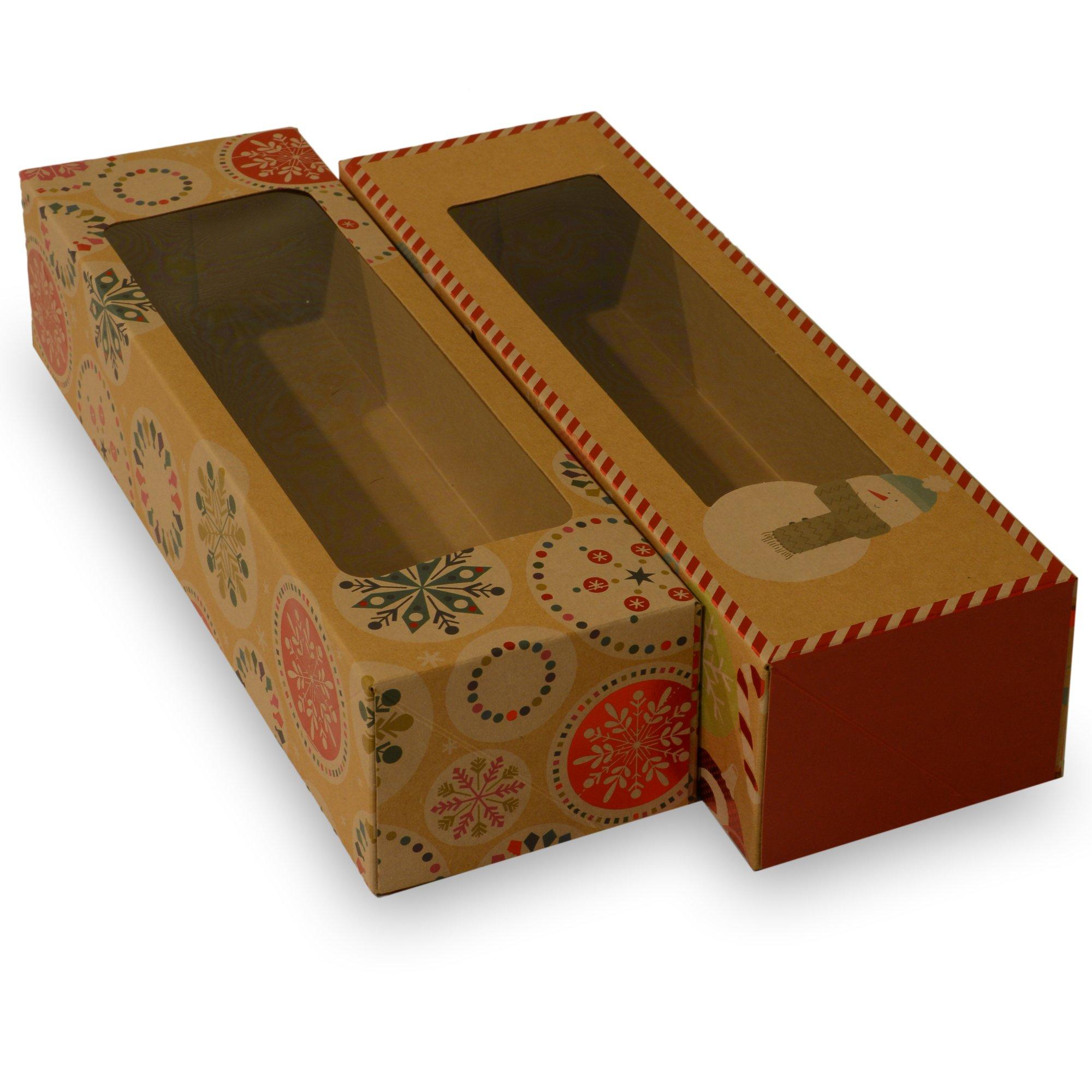 16 X 12 Custom Printed Kraft Paper Wedding Gift Bags: Amazon.com: Christmas Cookie Box, Bakery Set; Brown Kraft