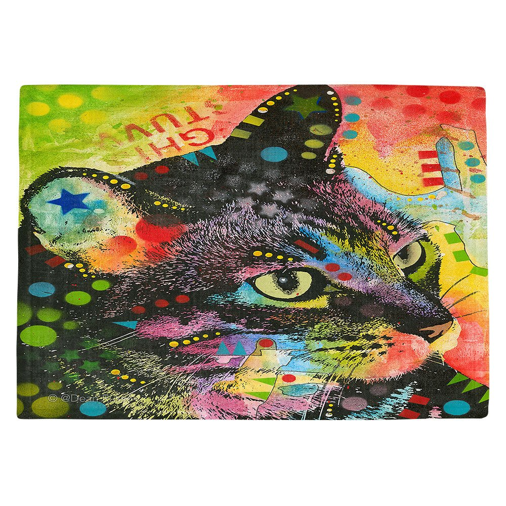 DIANOCHEキッチンPlaceマットby Dean Russo – 猫は何だった Set of 4 Placemats PM-DeanRussoWhatWasThatCat2 Set of 4 Placemats  B01EXSJEQA