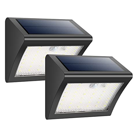 HETP Foco Solar Exterior 38 Leds Luz Solar Jardín,Luces Sensor de Movimiento Impermeable Seguridad
