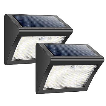 HETP Foco Solare Exterior 38 Leds Luz Solar Jardín,Luces Sensor de Movimiento Impermeable Seguridad