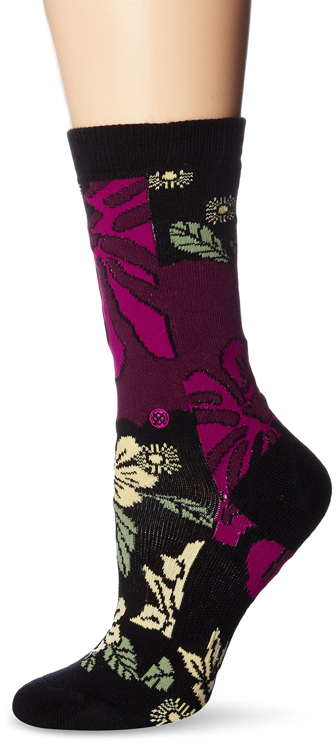 Stance Women's Rihanna Lotus Tomboy Crew Sock, Pink, One Size
