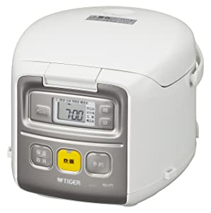TIGER Microcomputer rice cooker 3GO (450g) Cooked mini rice cooker JAI-R551-W (White)