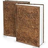 Taccuino XXL Alte Welt, marrone scuro con antica carta geografica del mondo, ideale come diario, per appunti, idea regalo, DIN A4, 164pagine vuote