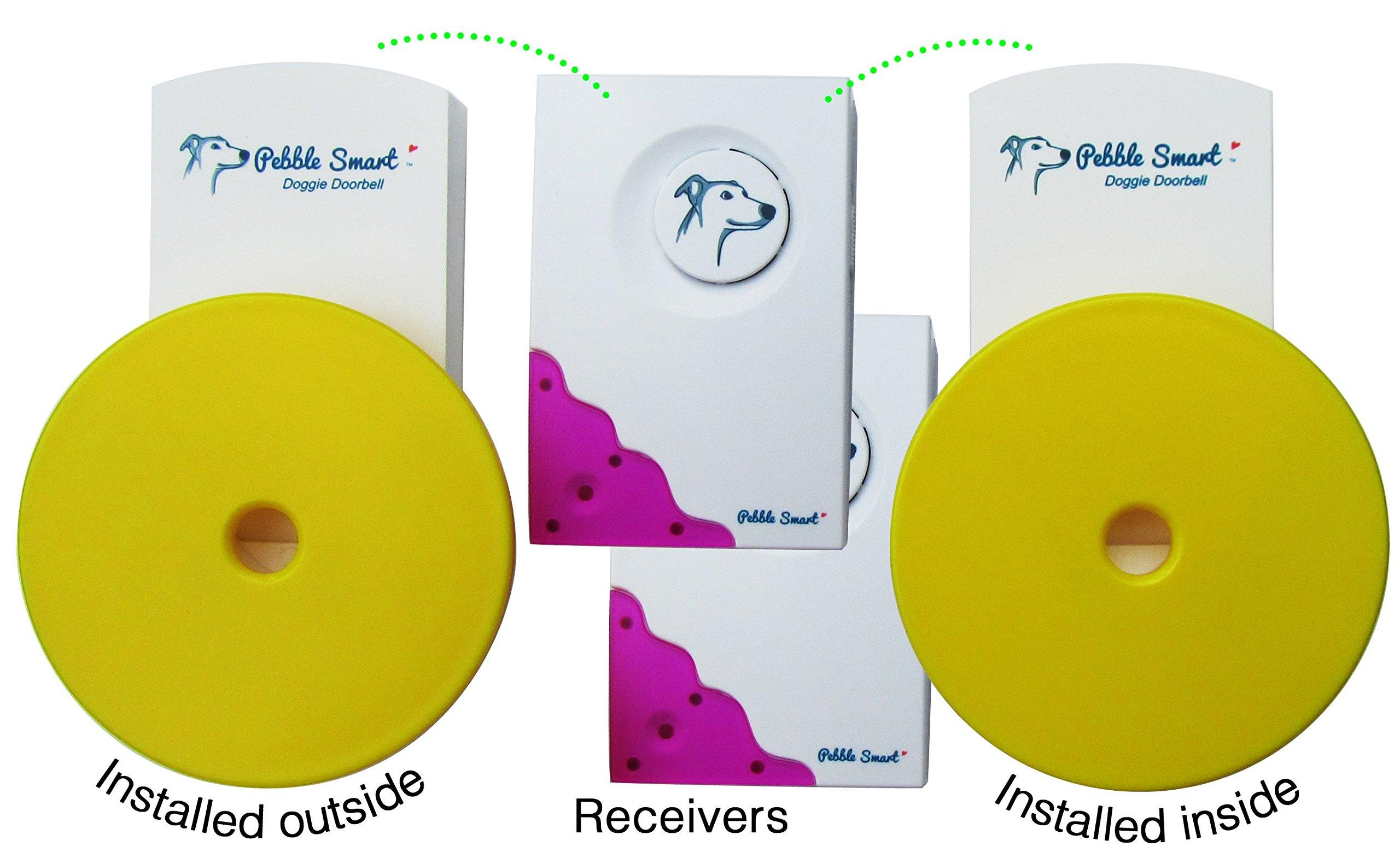 Pebble Smart Doggie Doorbell - 2-Pack - Fuchsia Accent