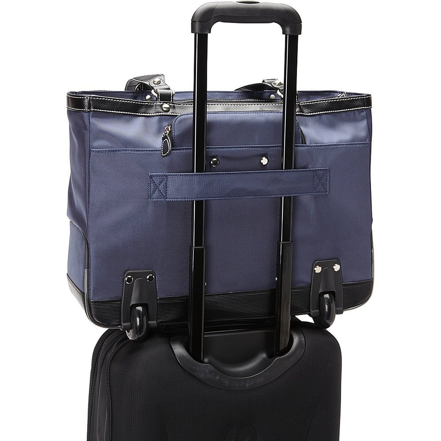 Clark and Mayfield Marquam 18.4 Rolling Laptop Tote Computer Handbag in Black